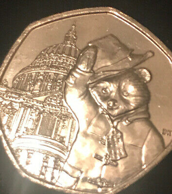 2019 Uncirculated Paddington Bear At St Pauls Cathedral 50P Coin Rare