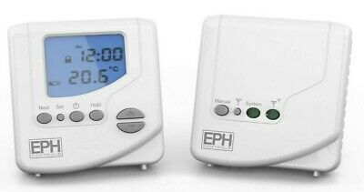 Digital RF Wireless Programmable Room Thermostat Receiver Boiler Plus Compliant