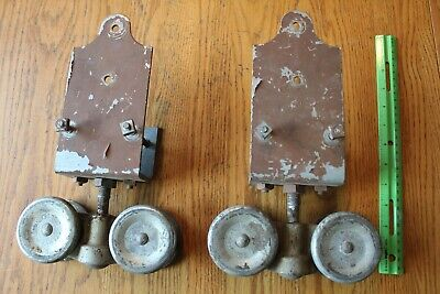 Stanley Barn Door Rollers Ball bearing wheels vintage steel industrial hanger