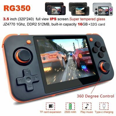 RG350 3.5 inch IPS Screen Handheld Retro Video Game Player 64 Bits Game Console