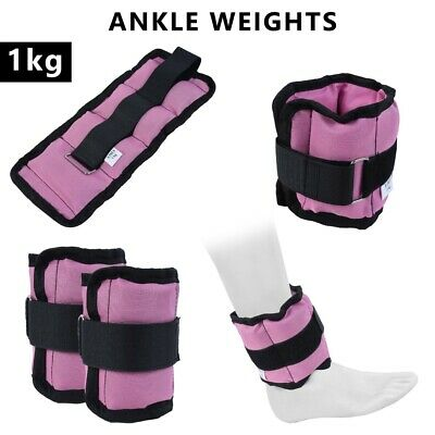 2Fit™ Adjustable Ankle Weights Pair 1 Kg Wrist Arm Leg Running Exercises - pair
