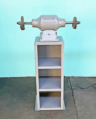 Baldor 1/2 HP Double End Buffer with Shelf Stand