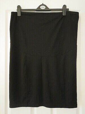 H&M Black Over the Bump Maternity Stretch Pencil Skirt - XL