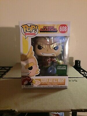 Funko POP! My Hero Academia: Silver Age All Might (Metallic) B&N Excl In Hand