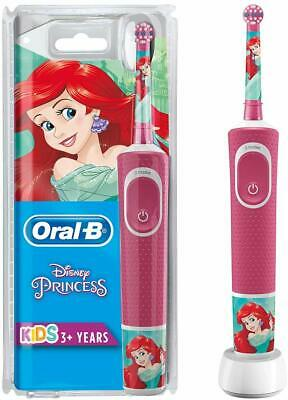 Oral-B Kids Rechargeable Electric Toothbrush with 1 Handle with Disney Princess