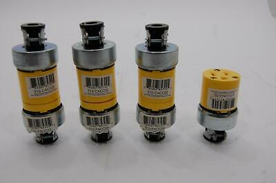 Lot of 7 Pass & Seymore 515-PACC20 515-CACC20 15 AMP 125 VOLT Cord Lock Plugs