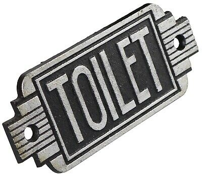Toilet - Art Deco Cast Iron Sign Plaque