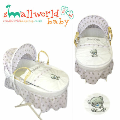 Moses Basket Cover Crib Basinette Personalised Bedding Dressing Boys Girls
