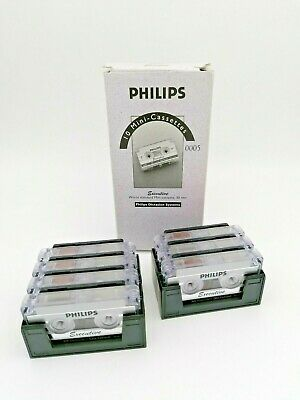 7 x Philips Mini Cassetten Kassetten Executive LFH 0005 30min mit Box/Garage