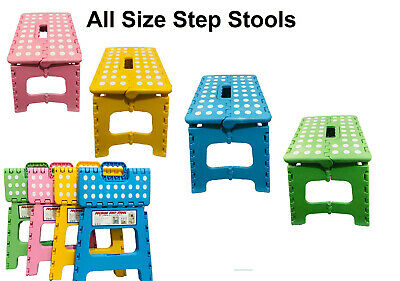 Foldable Step Stool Folding Sturdy Home Kitchen Garage Bathroom Multi Purpose