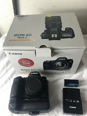 ✨ Canon ✨ EOS 6D Mark II 26.2MP Digital SLR Camera (Body) + Battery GRIP! Video