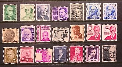 US 1278-1295 Prominent American, 1965-1978, mint never hinged,free shipping