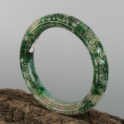 Chinese Exquisite Hand-carved jadeite jade bracelet
