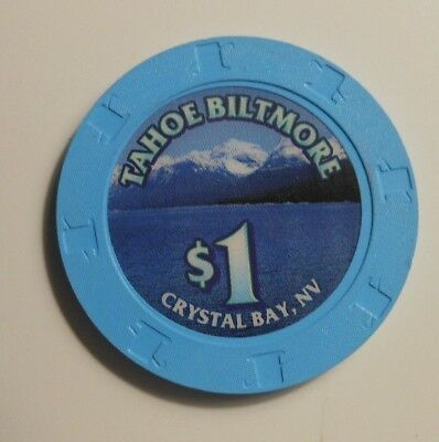 "$1.00 CASINO CHIP ""TAHOE BILTMORE CASINO"" LAKE TAHOE, NEVADA   used"