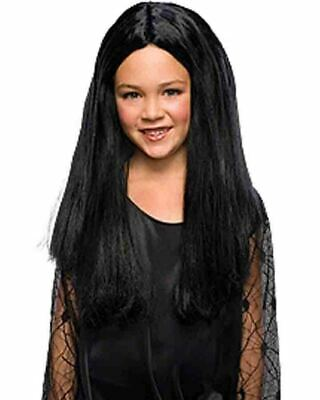 The Addams Family Morticia Girls Black Wig One Size