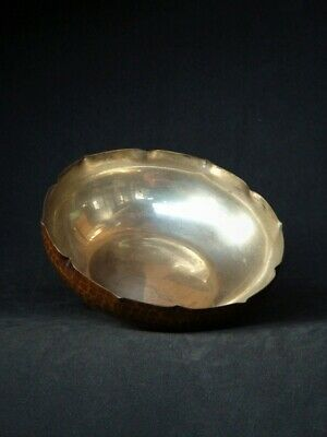 Antique Japanese KASHIKI Copper Silver Plated Bowl Tea Ceremony Dessert Dish