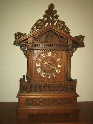 Large Single Fusee Black Forest Antique Cuckoo Clock