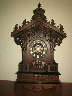 Antique Large Mantel  Black Forest Cuckoo Clock