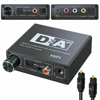 Digital Optical Coaxial Toslink to Analog Audio Converter Adapter USB Line