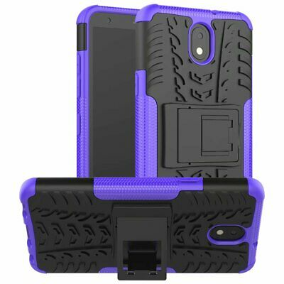 Shockproof Rugged Hybrid Armor Hard PC Stand Silicone Case Cover For LG K30 2019