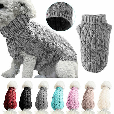 Winter Dog Knitted Jumper Knitwear Pet Clothes Chihuahua Puppy Cat Sweater Coats
