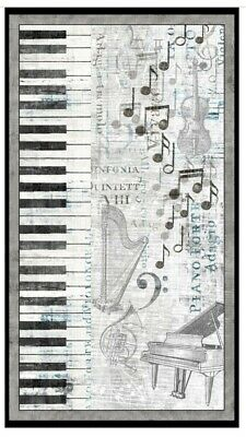 Interlude Quilt Panel * Piano * New * Free Post *
