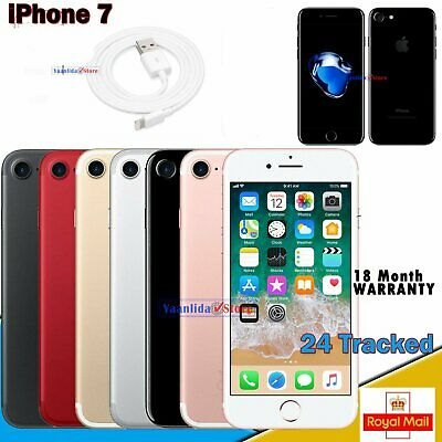 UNLOCKED Apple iPhone 7 NEW - 32GB/128GB/256GB - All Colours - Various Grades UK