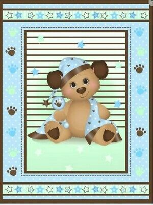 Baby Quilt Panel * Sleepy Time Puppy * New * Free Post *