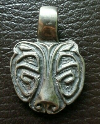 Highly Detailed Ancient Viking Norse Solid Silver Amulet Pendant 800-900 Ad