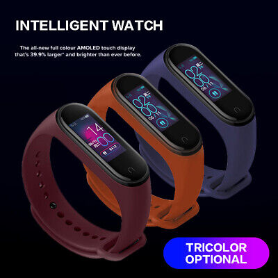 Bluetooth 5.0 Xiaomi Mi Band 4 Smart Watch Sport Armband Sportuhr Pulsmesser DE