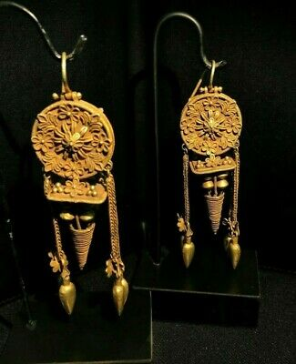 FABULOUS ANCIENT ROMAN GOLD EARRINGS - CIRCA - 2nd Century AD