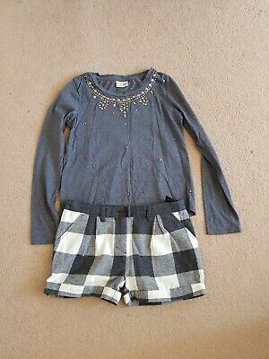 Girls top and shorts set Age 10 - Next