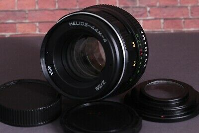 Helios 44M-4 2/58 Lens +adapter Nikon M42 lens Adapter Ring Infinity Focus Glass