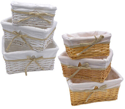 Wicker Storage Basket Birthday Christmas Xmas Gift Hamper With Removable Lining