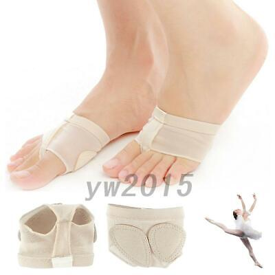 2 Pairs Belly Ballet Dance Paws Cover Foot Forefoot Toe Half Lyrical Socks AU