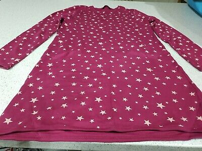 Girls Purple Coloured Star Dress With Front Pocket Detail New Without Tags...