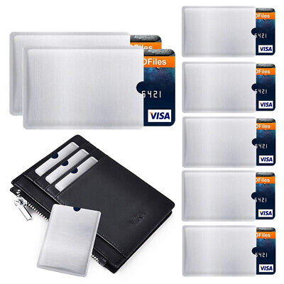 4pcs RFID Blocking Sleeve Credit Card Protector Anti-Theft Bank Card Holder Case