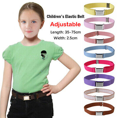 Color Pants Strap Boys Girls Kids Canvas Belt Alloy Buckle Adjustable Waistband