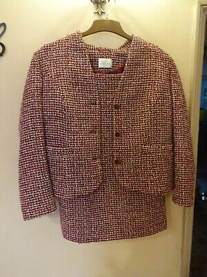 Ladies 1960s Style Tweed Skirt Suit  Size 14