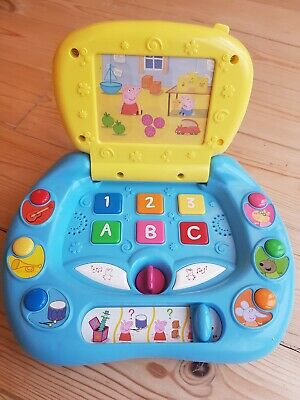 Peppa Pig My 1st Laptop Lights Sounds 123, ABC Educational Fun Game Carry Handle