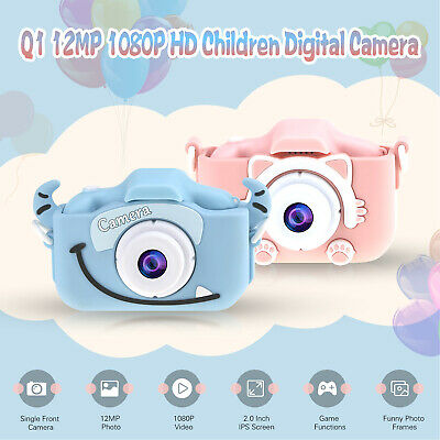"Mini Children Camera 1080P Video Camcorder 2"" IPS Screen 32GB For Kids Gift W7M4"