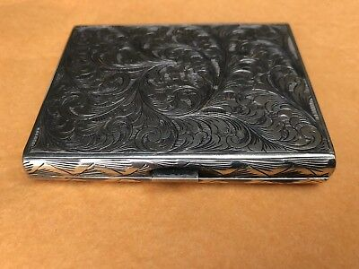 Antique Sterling Silver Cigarette Or Cigar Box Marked 800
