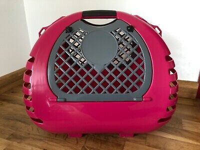 Pet Cat Carriers Basket Bag Cage Portable Travel Kennel Box Vet 2 Doors