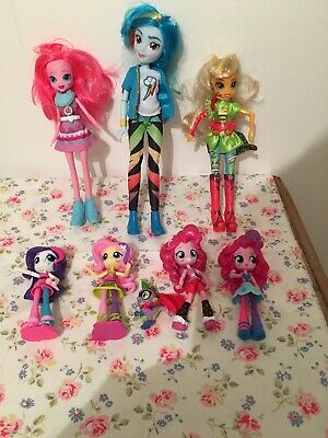 Equestria Girls, My Little Pony Dolls & Small Spike The Dragon