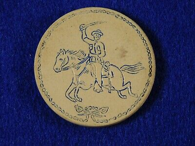 Theodore Roosevelt Tr Rough Rider Poker Chip Campaign Political