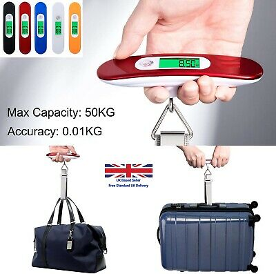 50kg Mini Luggage Electronic Weighing Travel Portable Hand Digital Scale Steel