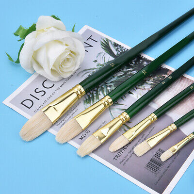 6X Artist Paint Brushes Set Acrylic Oil Watercolour Painting Craft Art Tools Kit