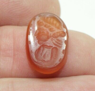 Superb Quality Ancient Carved Intaglio - Circa  200 Ad  - 0011