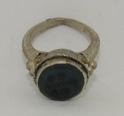 Quality Post Medieval Silver  Intaglio Ring    232