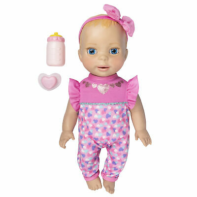 Luvabella Newborn Blonde Hair Interactive Baby Doll with Real Expressions
